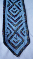 Kuna Indian Hand-Stitched Blue Marvel Mola Necktie-Panama 20062801mm