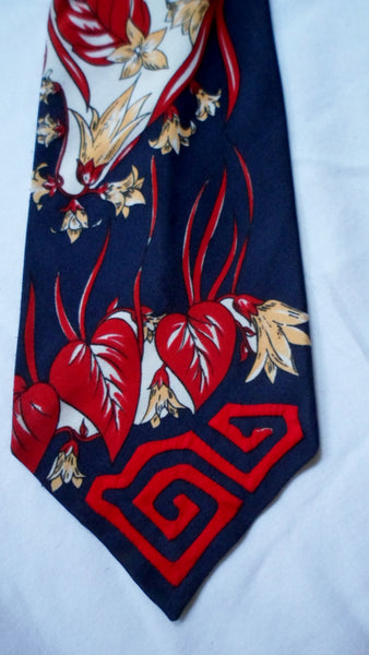 Kuna Indian Hand-Stitched Magnificent Mola Necktie-Panama 20062802mm