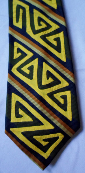 Kuna Indian Hand-Stitched Child's Snap-On Mola Necktie-Panama 20071015mm