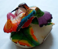 Wounaan Embera Hummingbird Tagua Nut Carving-Panama 20062902mm