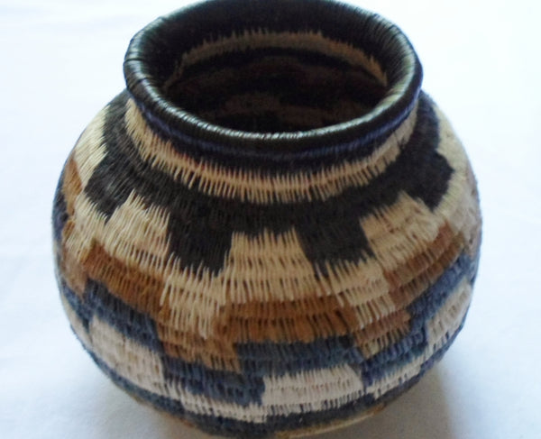 Wounaan Embera Woven Classic Design Basket-Panama 20063008mm