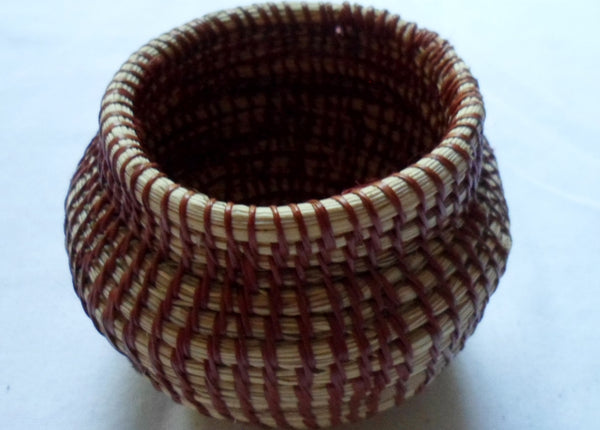 Wounaan Embera Woven Classic Design Basket-Panama 20063010mm