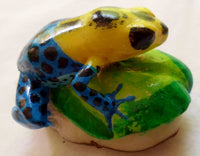 Wounaan Embera Poison Dart Frog Tagua Nut Carving-Panama 20070103mm