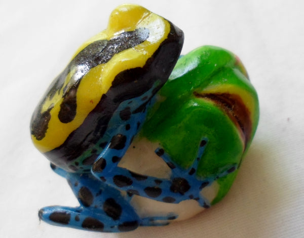 Wounaan Embera Poison Dart Frog Tagua Nut Carving-Panama 20070104mm