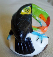 Wounaan Embera Toucan Parrot Tagua Nut Carving-Panama 20071006mm