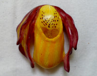 Wounaan Orchid Flower Tagua Nut Pendant Carving-Panama 20071009mm
