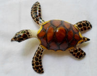Wounaan Embera LARGE Sea Turtle Tagua Nut Carving-Panama 20071022mm