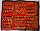Kuna Indian Hand-Stitched Vintage Angry Waves MoIa-Panama 17121901mm