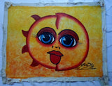 Haitian Happy Face Snushine Painting-Panama 20071408mm