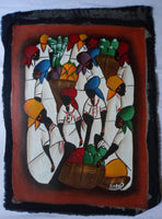 Haitian Marketplace Scene Painting-Panama 20071409mm
