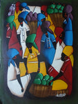 Haitian Marketplace Scene Painting-Panama 20071411mm