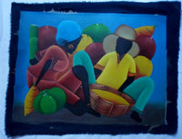 Haitian Marketplace Scene Painting-Panama 20071412mm