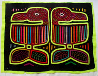 Kuna Indian Hand-Stitched Toucan Bird MoIa-Panama 20072410mm