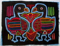 Kuna Indian Hand-Stitched Lovebird MoIa II-Panama 20072716mm