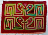 Kuna Indian Hand-Stitched Peckerhead Bird MoIa-Panama 20081201mm