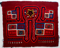 Kuna Indian Hand-Stitched Patriotic MoIa-Panama 20081511mm
