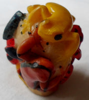 Wounaan Embera Tagua Nut Poison Dart 5 Frog Carving-Panama 20081803mm