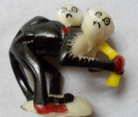 Wounaan Embera Tagua Monkey w/ Chimp Carving-Panama 20081811mm