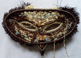 Wounaan Indian Woven Chunga Hoot Owl Bird Mask-Panama 20082520mm