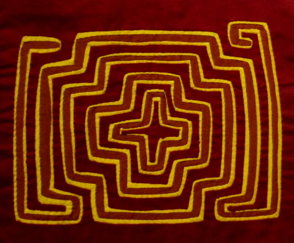 Kuna Indian Hand-Stitch Traditional MoIa Molita-Panama 20091711mm