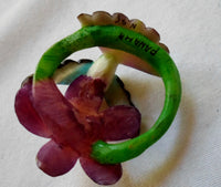 Wounaan Tagua Nut Hummingbird Pendant Carving-Panama 20092212mm