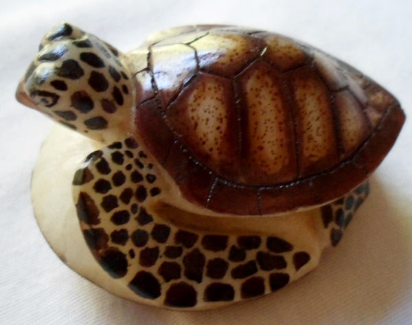 Wounaan Tagua Nut Sea Turtle Carving-Panama 20092217mm