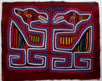 Kuna Indian Hand-Stitched Optical Illusion MoIa-Panama 20092323mm