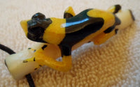 Wounaan Poison Dart Frog Tagua Nut Pendant Carving-Panama 20100813mm