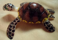 Wounaan Embera Sea Turtle Tagua Nut  Carving-Panama 18081611mm