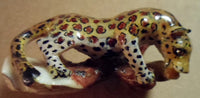 Wounaan Embera Jaguar Tagua Nut Carving-Panama 18081609mm