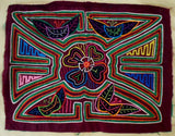 Kuna Indian Hand-Stitched Super Floral Flower MoIa-Panama 19020603mm