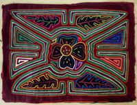 Kuna Indian Hand-Stitched Super Floral Flower MoIa II-Panama 19020604mm