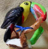 Wounaan Embera Toucan Parrot Tagua  Nut Carving-Panama 19012907mm