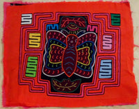 Kuna Indian Hand-Stitched Butterfly MoIa-Panama 19013115mm