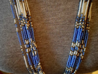 Blue Beaded Necklace from Nepal 21011607mm