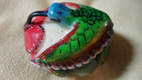 Wounaan Embera Tagua Nut Hummingbird Carving-Panama 19022019mm