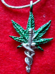Medical Marijuana Pewter Pendant Jewelry-Panama 19050801mm