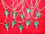 10 Medical Marijuana Pewter Pendants Jewelry-Panama 19050802mm