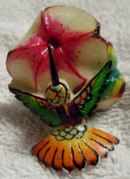 Wounaan Embera Tagua Nut Hummingbird Carving-Panama 19092702mm