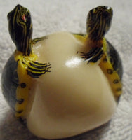 Wounaan Embera 2 Turtle Tortoise Tagua Nut Carving-Panama 19100202mm