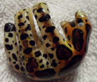 Wounaan Embera Jaguar Cat Tagua Nut Pendant Carving-Panama 19100214mm