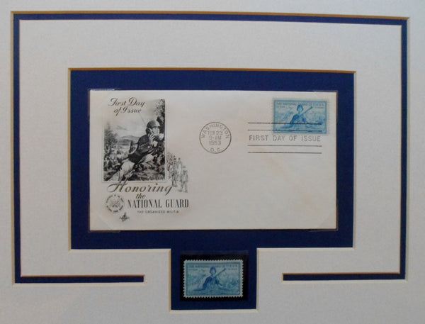 Matted for Framing First Day Issue National Guard Stamp-21021707mm