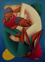Haitian Brotherly Love Scene Painting-Panama 19100440mm