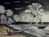 Haitian Sand & Surf at Night Scene Painting-Panama 19100444mm