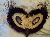 Wounaan Indian Woven Owl Bird Mask-Panama 19101704mm