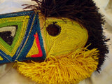 Wounaan Indian Woven Magnificent Toucan Bird Mask-Panama 19101709mm