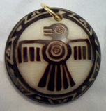 Thunderbird Tagua Nut Pendant Carving-Ecuador 19102802mm