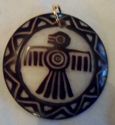 Thunderbird Tagua Nut Pendant Carving-Ecuador 19102907mm