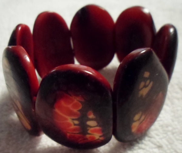 Tagua Vegetable Ivory Bracelet Jewelry-Ecuador 19110418mm