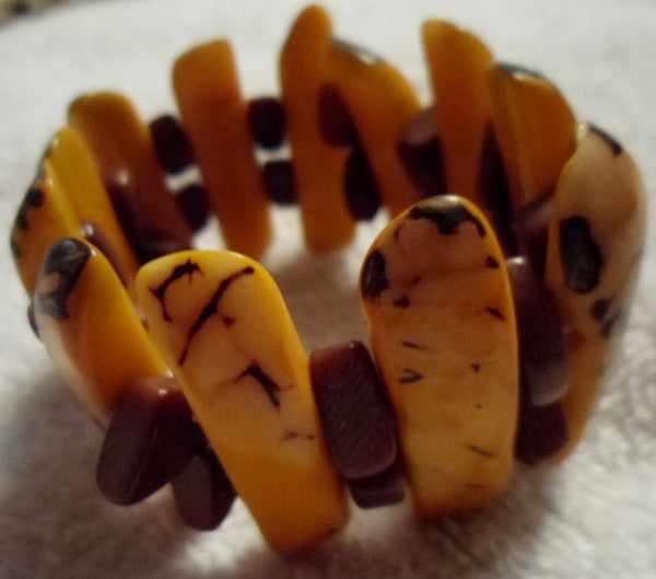 Tagua Vegetable Ivory Bracelet Jewelry-Ecuador 19110424mm